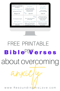 FREE Download: Overcoming Anxiety Printable