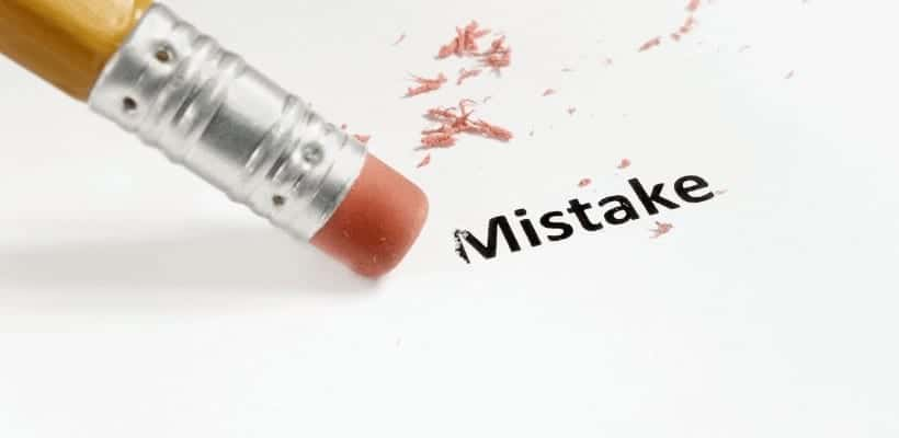 an image of a pencil and piece of paper with the word mistake being erased. featured image for Are You A Fixer Personality? What to do When You Can't Fix It All!