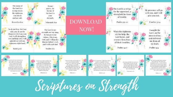 Scripture Cards on Strength