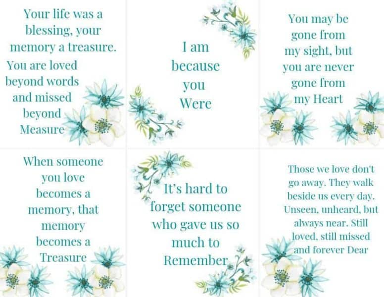 Scripture Cards on Loss 2