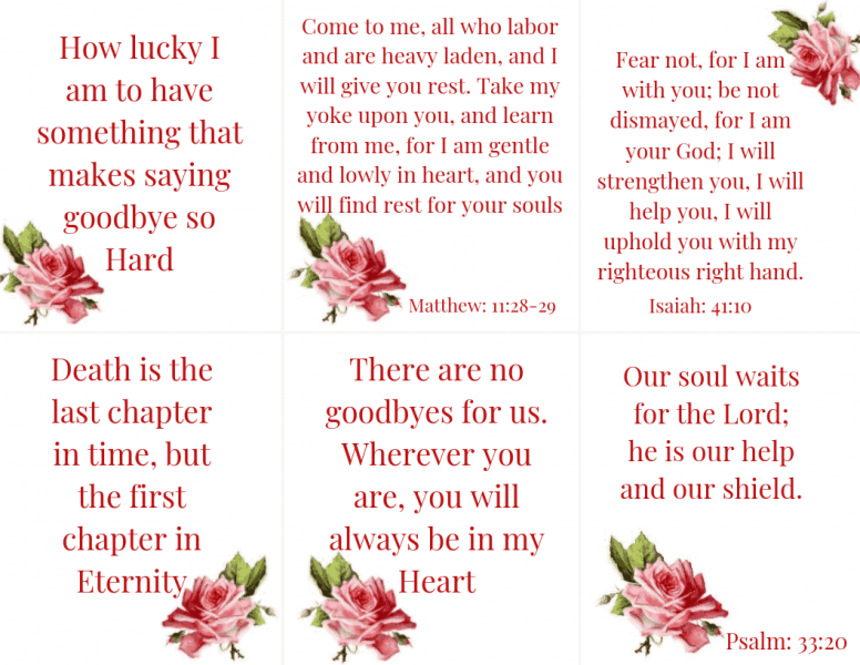 Scripture Cards on Loss 4