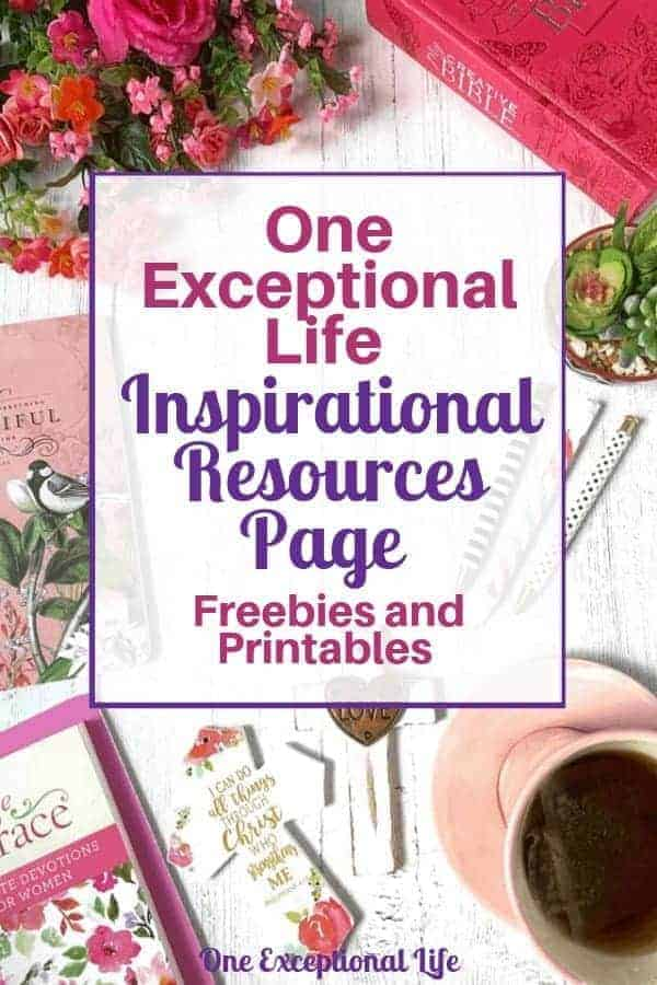 One Exceptional Life Inspirational Resources Page
