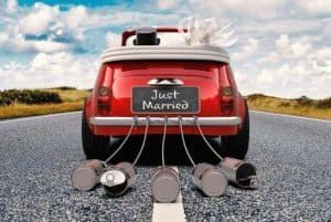 an image of a car decorated with just married sign with text reading 10 Real Ways to Be Thankful for Your Husband