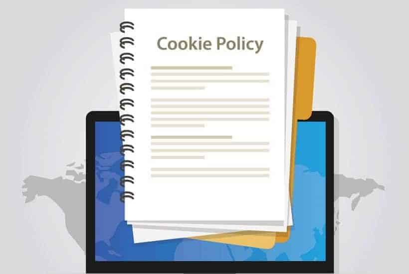 an image of a computer displaying a cookie policy folder