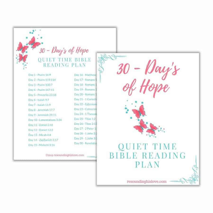 30 Day Quiet Time Reading Plan