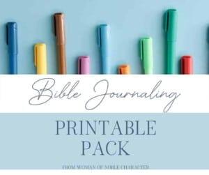 Bible Journaling Printable Pack