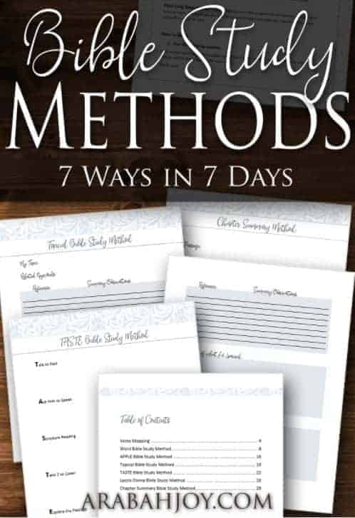 Bible Study Methods 7 Ways in 7 Days
