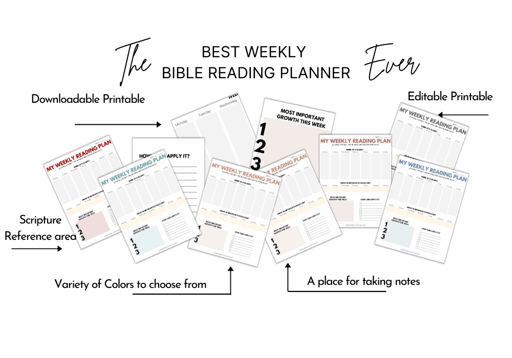 Weekly Bible Reading Planner