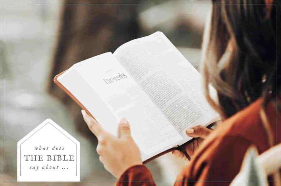 an image of a women reading an open bible featured image for What Does the Bible Say About?