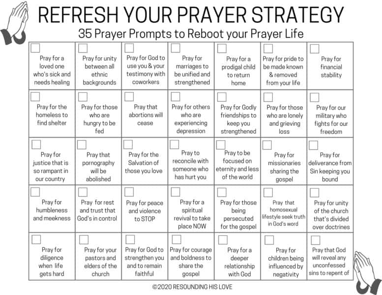 35 Prayer Prompts to Reboot Your Prayer Life