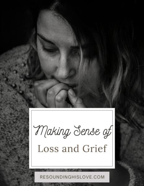 a sad woman with her hands to her face Making Sense of Loss and Grief Mini e-Book