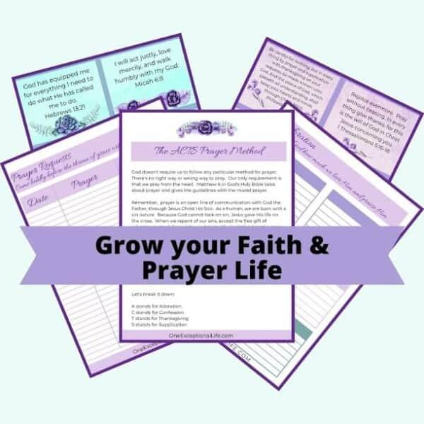 Grow your Faith and Prayer and Prayer Life